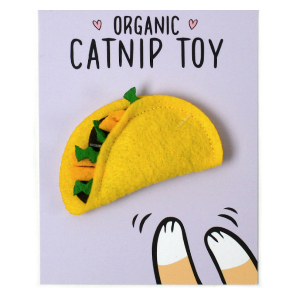 Organic Catnip Mini Taco Toy