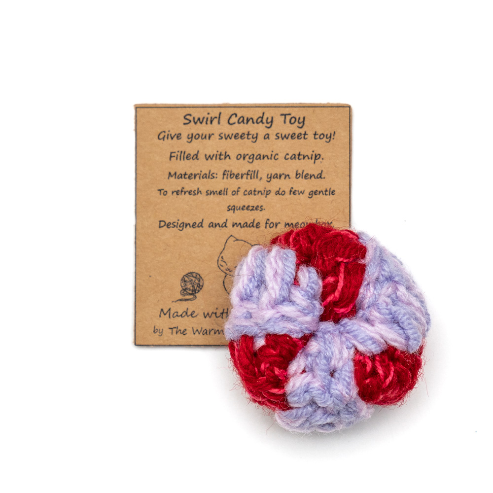 Crochet Catnip Swirl Candy Toy