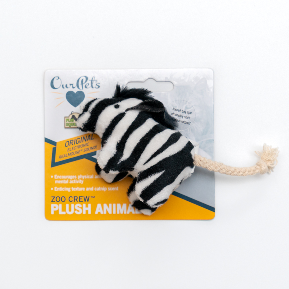 Squeaking Zebra Toy