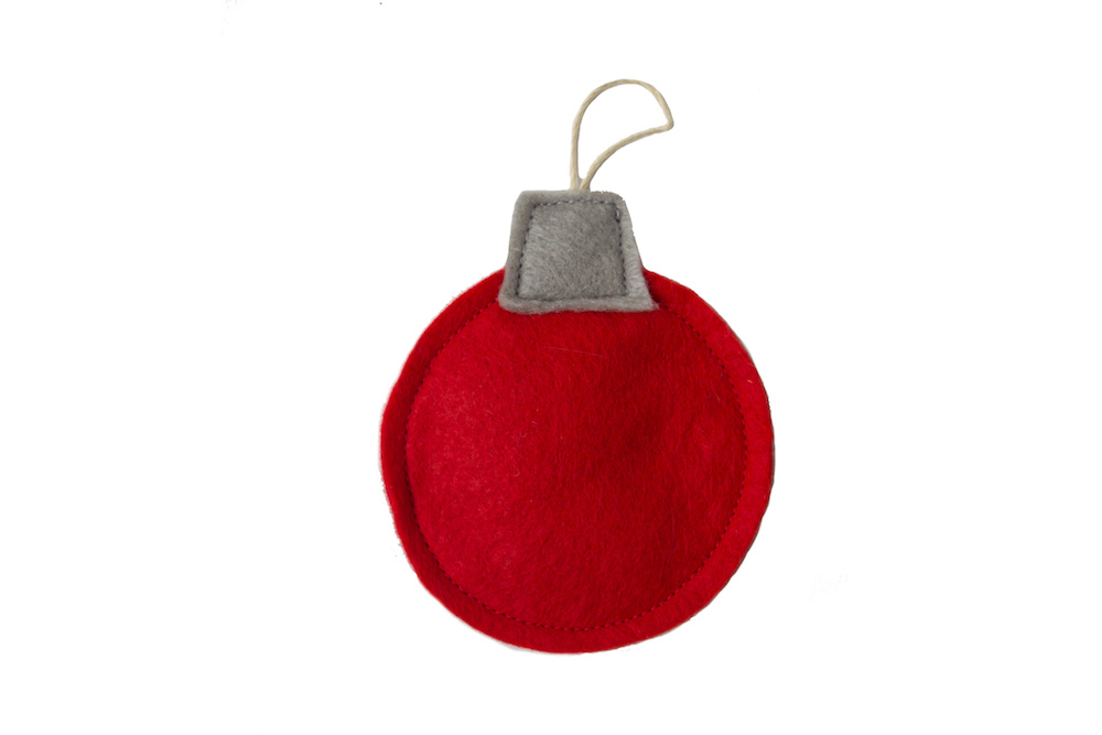 Holiday Ornament Felt-nip Toy