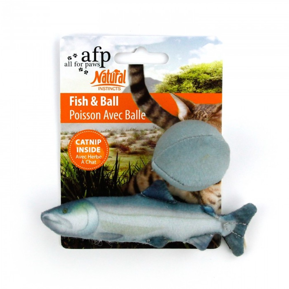 Catnip Fish and Ball Set