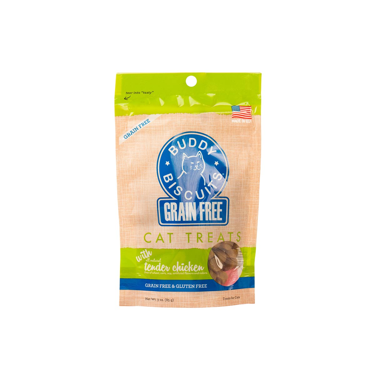 Grain Free Cat Treats with All natural Tender Chicken