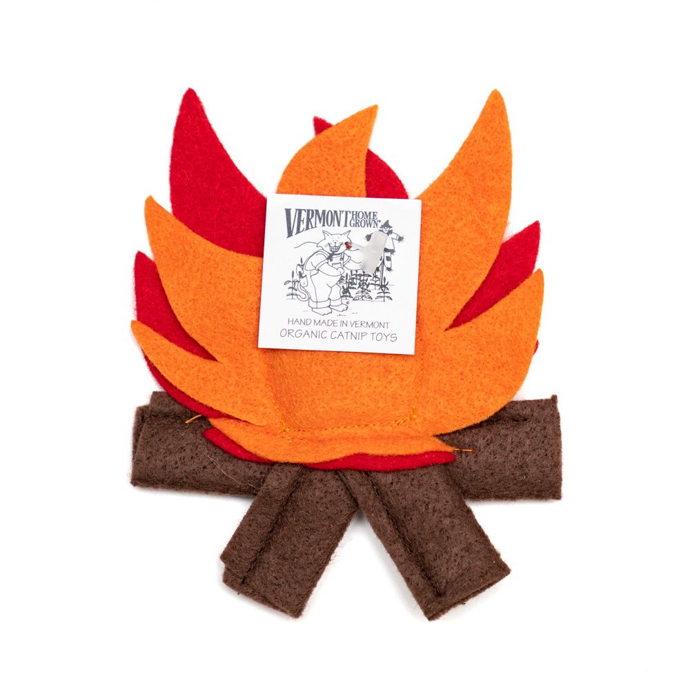 Handmade Catnip Campfire Toy