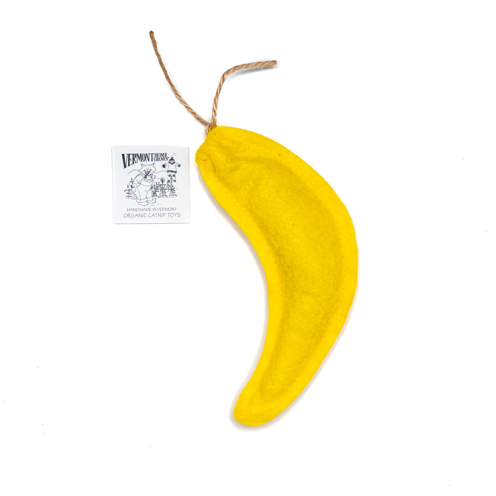 Refillable Catnip Banana